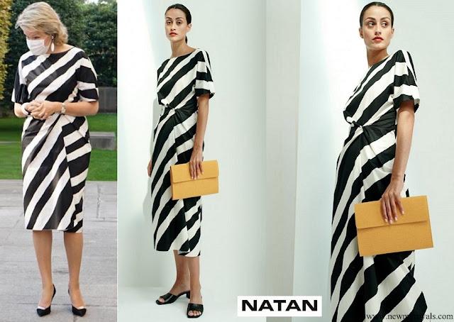 Queen Mathilde wore NATAN dress - spring summer 2021 collection