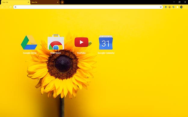 Sunflower Yellow Chrome Theme