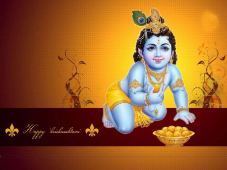 Hindu God Shri bal krishna Beautiful High Definition Wallpapers