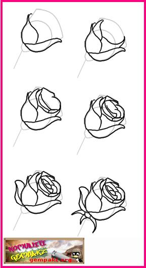 Teknik  Mewarnai Bunga  Dengan  Pensil  Warna B Warna