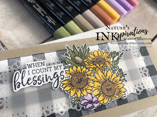 By Angie McKenzie for Bruno and Kylie Bertucci's Demonstrator Support Program Blog Hop; Click READ or VISIT to go to my blog for details! Featuring the Buffalo Check, Jar of Flowers and Fancy Phrases stamp sets by Stampin' Up!; #handmadecards #naturesinkspirations #stationerybyangie  #brunoandkyliesdemonstratorsupportprogrambloghop #thankyoucards #slimlinecards #minislimline #buffalocheckstampset #ornatelayersdies #jarofflowersstampset #fancyphrasesstampset #stampinup #cardtechniques #stampingtechniques #makingotherssmileonecreationatatime
