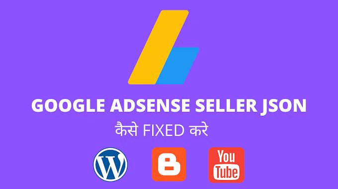 Google Adsense sellers.json Error कैसे fixed करे