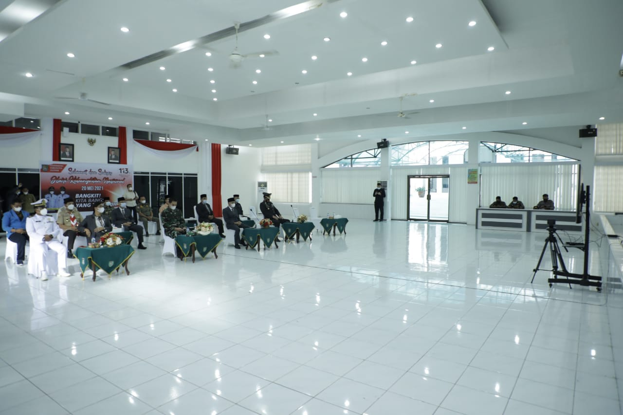Bupati Asahan Mengikuti Upacara Peringatan Hari Kebangkitan Nasional ke 113 Yang Digelar Kementerian Kominfo RI