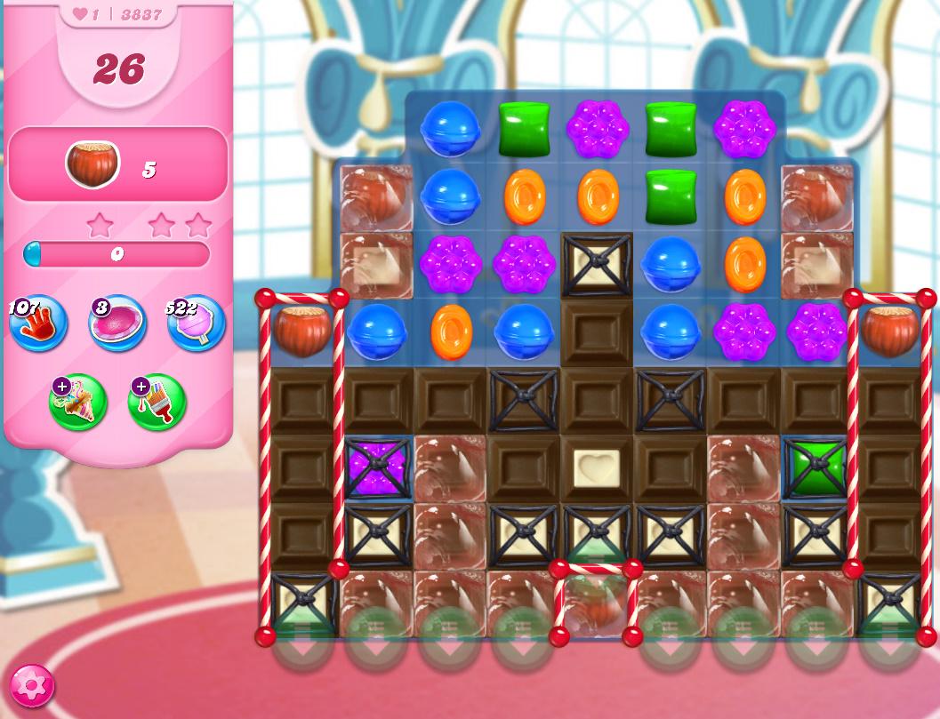 Candy Crush Saga level 3837