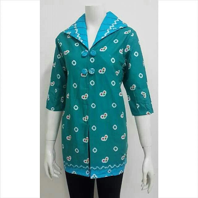 Model Baju Batik Kerja Jumputan