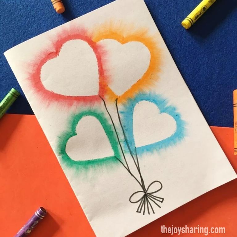 Easy heart balloon card for Mother's day