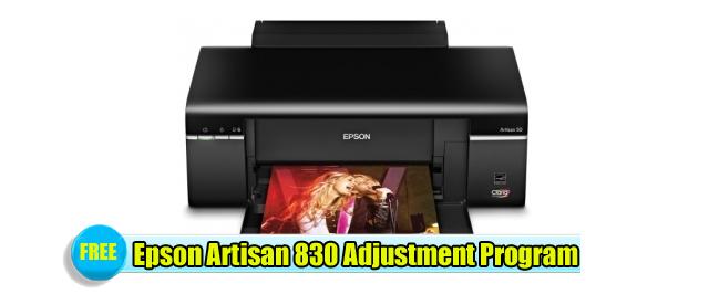 Epson Artisan 830  Adjustment Program
