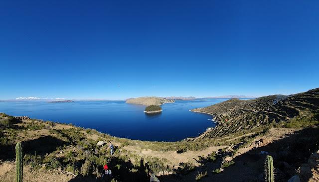 Vista a partir da Isla del Sol para o Lago Titicaca - Copacabana - Bolívia