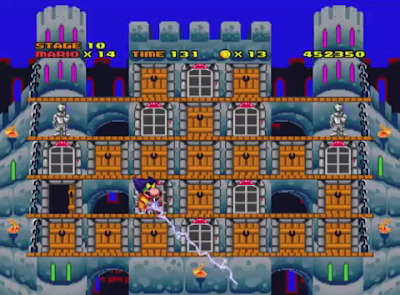 Hotel Mario Ludwig Von Koopa boss fight battle Thump Castle lightning electricity thunder sprite