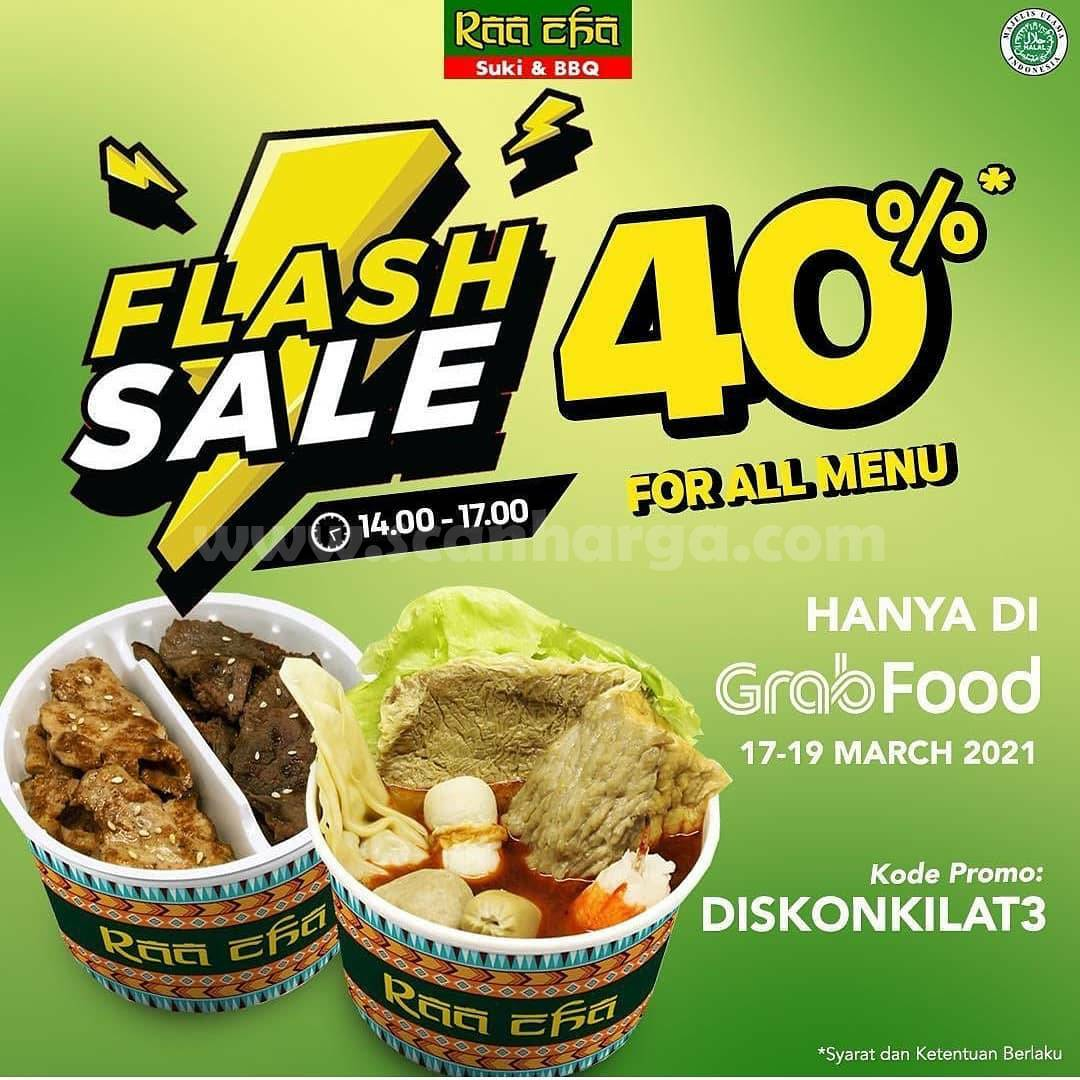 RAA CHA SUKI Promo Flash Sale – Diskon 40% All Menu via Grabfood