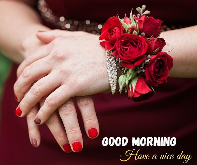 flower with good morning image