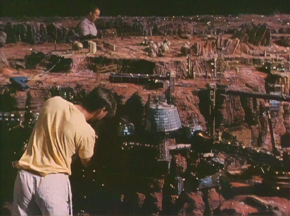 Making miniatures for Total Recall Martian landscapes