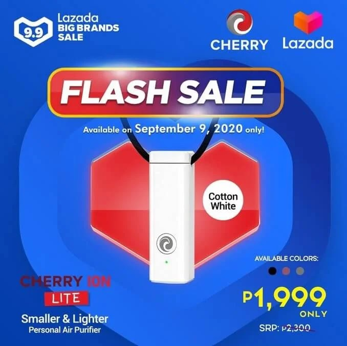DEAL ALERT: Cherry Ion Lite Personal Air Purifier on SALE this 9.9 for ONLY Php1,999