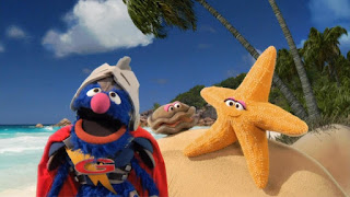 Super Grover 2.0 Lost Ring starfish, Sesame Street Episode 4315 Abby Thinks Oscar is a Prince season 43
