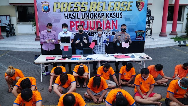 Polrestabes Surabaya Ungkap Segala Jenis Perjudian