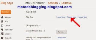 Ekspor Blog