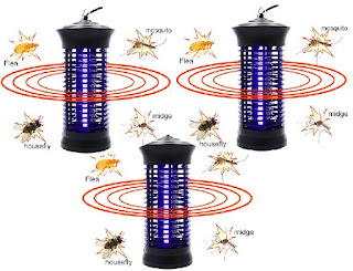 Insects Zapper Lamps - Flies/Mosquito/Bug Eliminator Ultraviolet Lanterns