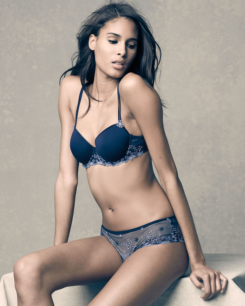 Cindy Bruna strips to lingerie for Night Lights' Best Designs