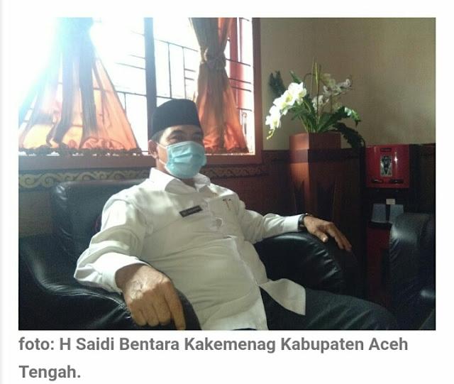 Kepala Kantor Kementrian Agama Kabupaten Aceh Tengah Tetapkan Zakat Fitarh Tahun 1442.H 2021.M