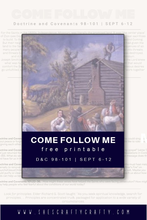 Come Follow Me Free Printable September 6