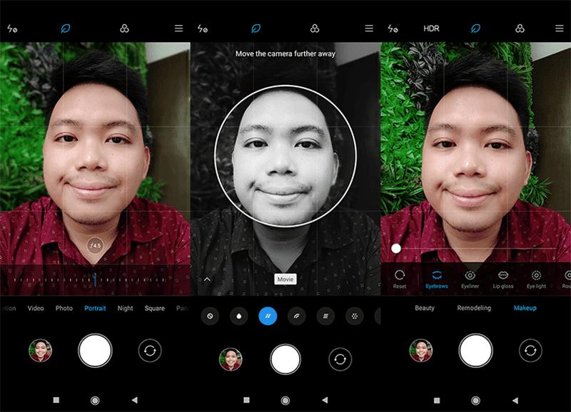 Selfie camera interface