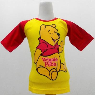 Kaos Raglan Anak Karakter Winnie the Pooh 1 Kuning