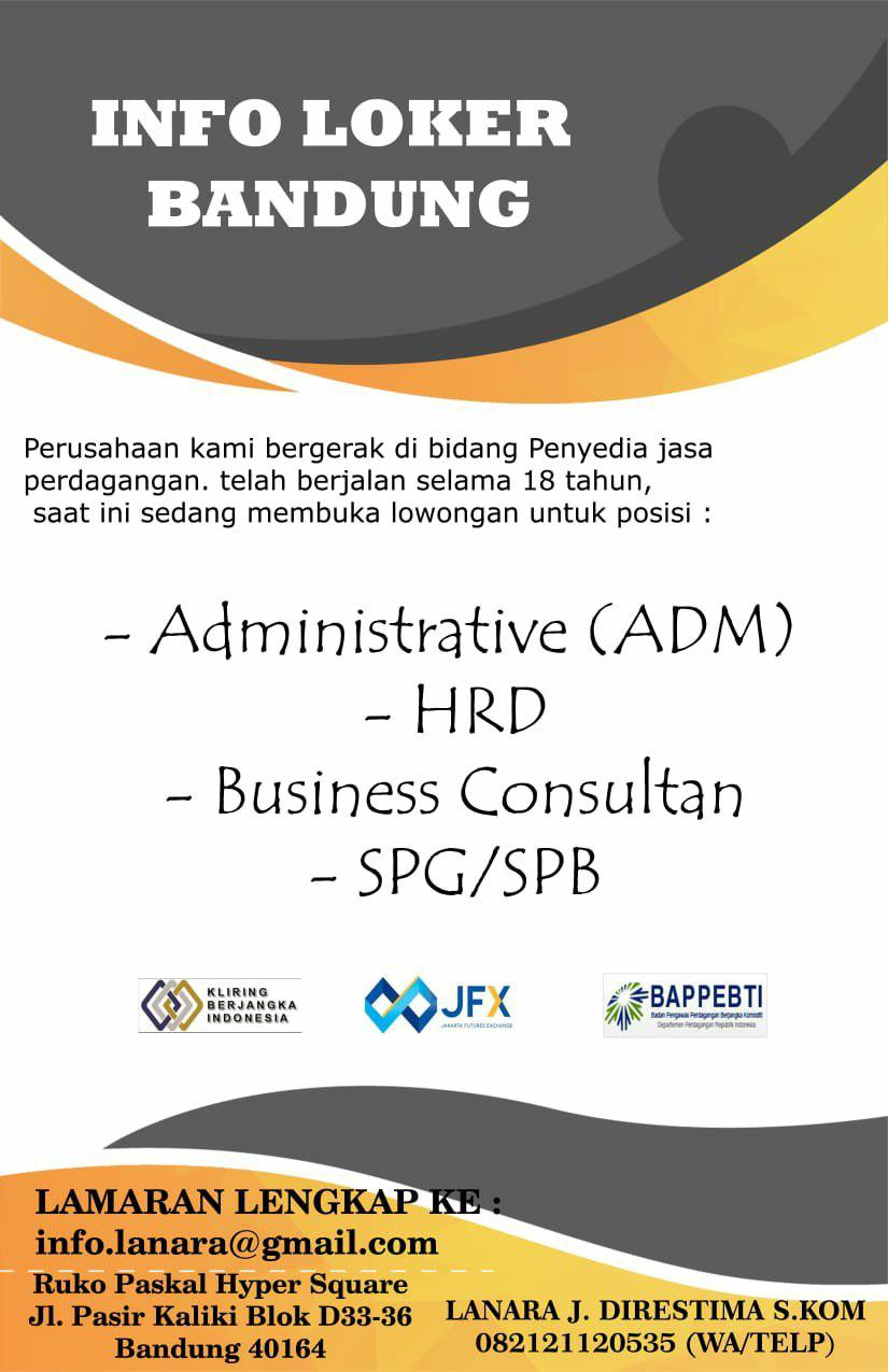 Lowongan Kerja PT. Kontak Perkasa Future Bandung Juli 2019
