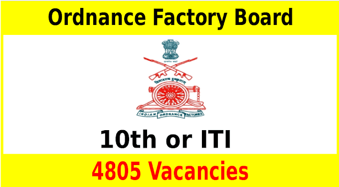 Ministry of Defence Ordnance Factory Board Recruitment