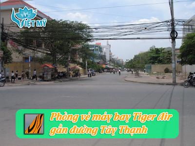 Mua vé máy bay Tiger Air gần đường Tây Thạnh quận Tân Phú