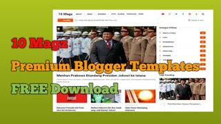 10 Magz Premium Blogger Templates FREE