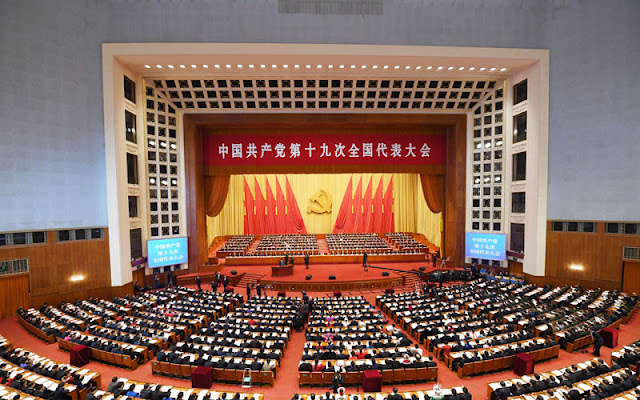 Image Attribute: The 19th National Congress of the Communist Party of China (CPC) opens at 9 a.m., Oct. 18, at the Great Hall of the People in Beijing. / Source: Xinhua