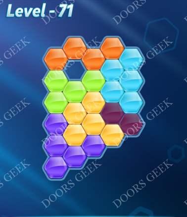 Block! Hexa Puzzle [6 Mania] Level 71 Solution, Cheats, Walkthrough for android, iphone, ipad, ipod