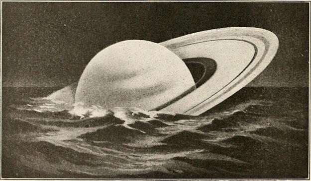 Saturn Floating in Water