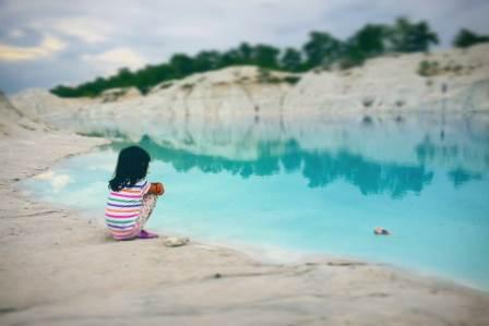 Danau Biru Bangka Tengah