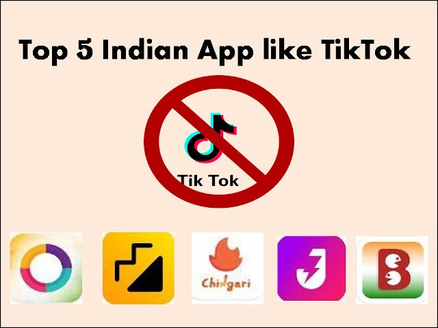 Top 5 Indian App like TikTok |