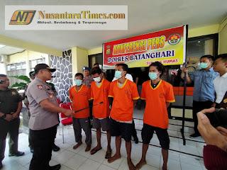 Press Release Polres Batanghari Penangkapan Pelaku Illegal Drilling