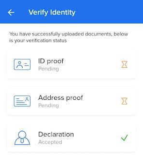 Zebpay app verify documents