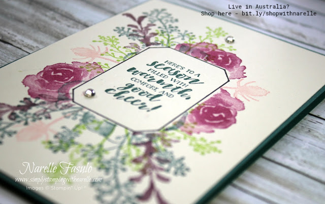 Create stunning cards quickly and easily with this beautiful First Frost stamp set. Better yet - join my Online Class - http://eepurl.com/dFKicH