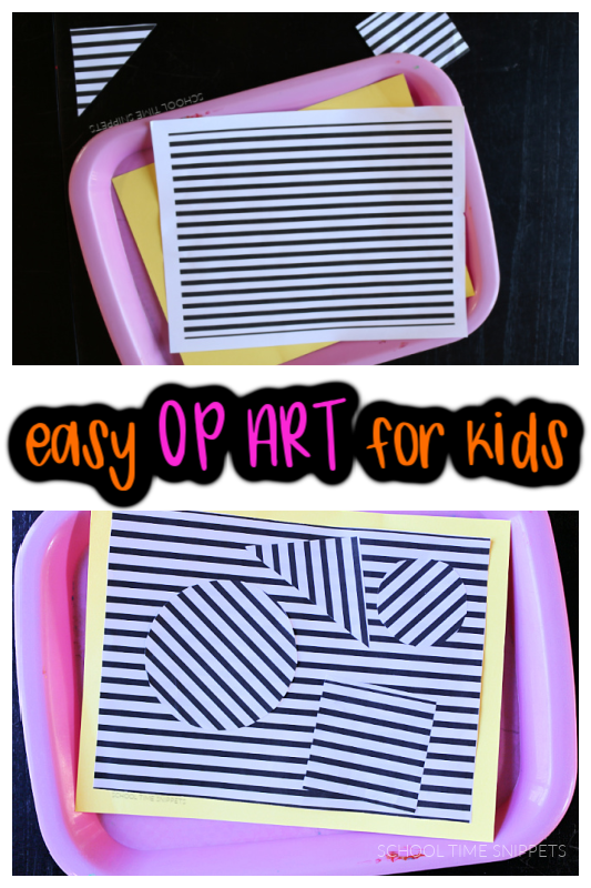 easy op art for kids