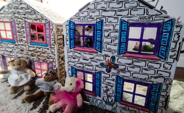 Kartonowe domki - najlepsza zabawka rozwijająca kreatywność za grosze