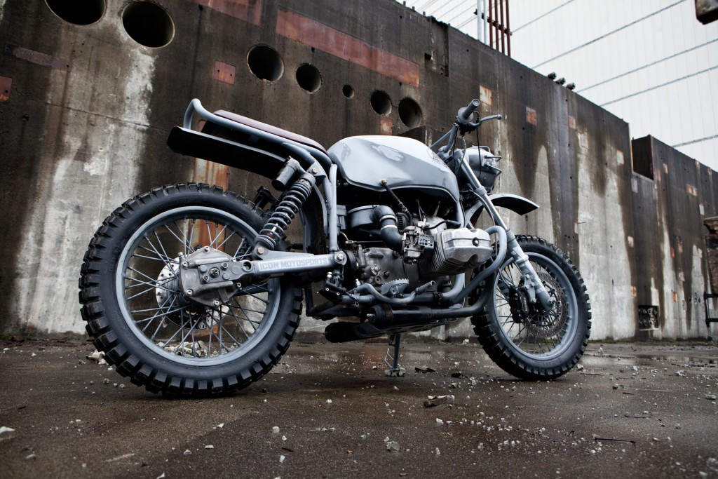 a nice scrambler made from a Ural motorcycle