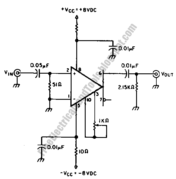 free schematic diagram  pre amplifier circuit for oscilloscope