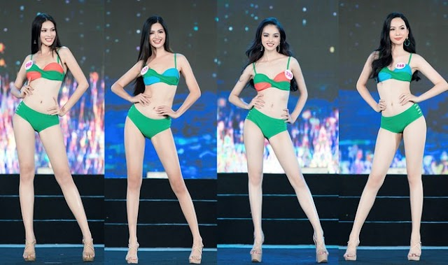 'Bỏng mắt' với phần trình diễn bikini của thí sinh Hoa hậu Việt Nam 2020