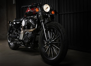 vertical twins exhaust by kinetic motorcycles on bike