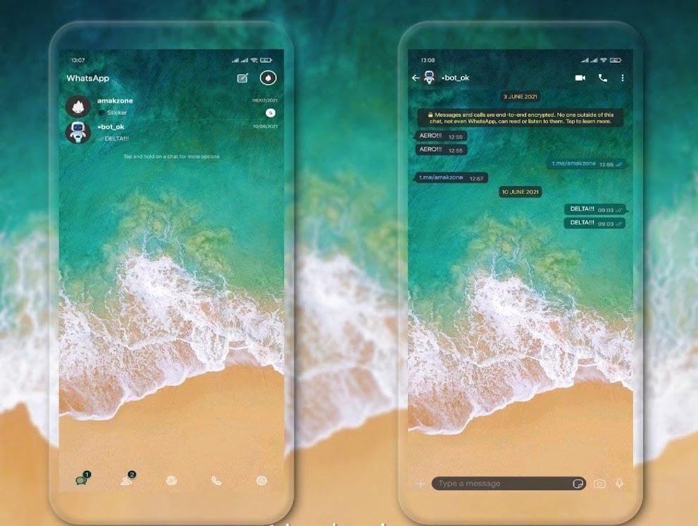 IOS 11 Pro Transparent Theme For GBWhatsApp & Delta WhatsApp By Amakzone
