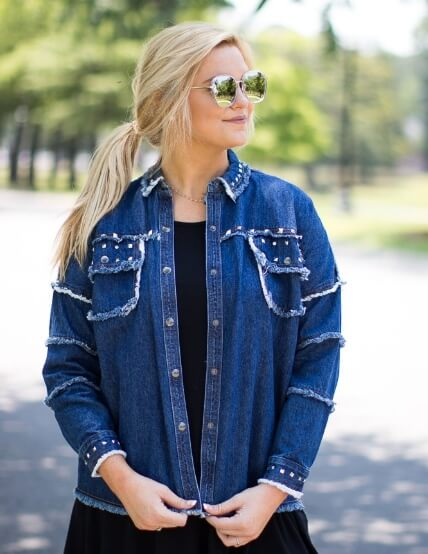 Madison and Mallory Happy Accidents studded jacket