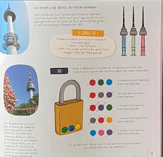 Coloriages et exercices ludiques de la Box Kidi Globe Trotter sur la Corée