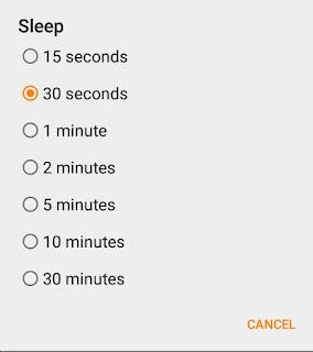 Change Sleep Time
