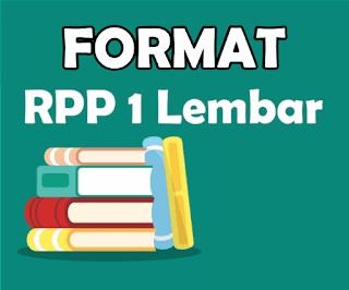 download format RPP 1 lembar terbaru