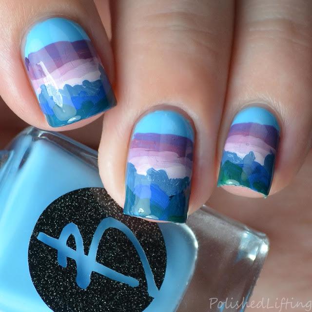 nail art inspired by Hatchet by Gary Paulsen